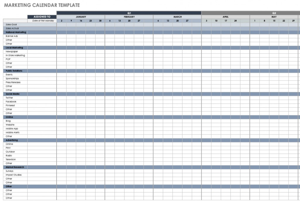 004 Archaicawful Free Excel Calendar Template Example  2020 Monthly Download Biweekly Payroll 2018Large