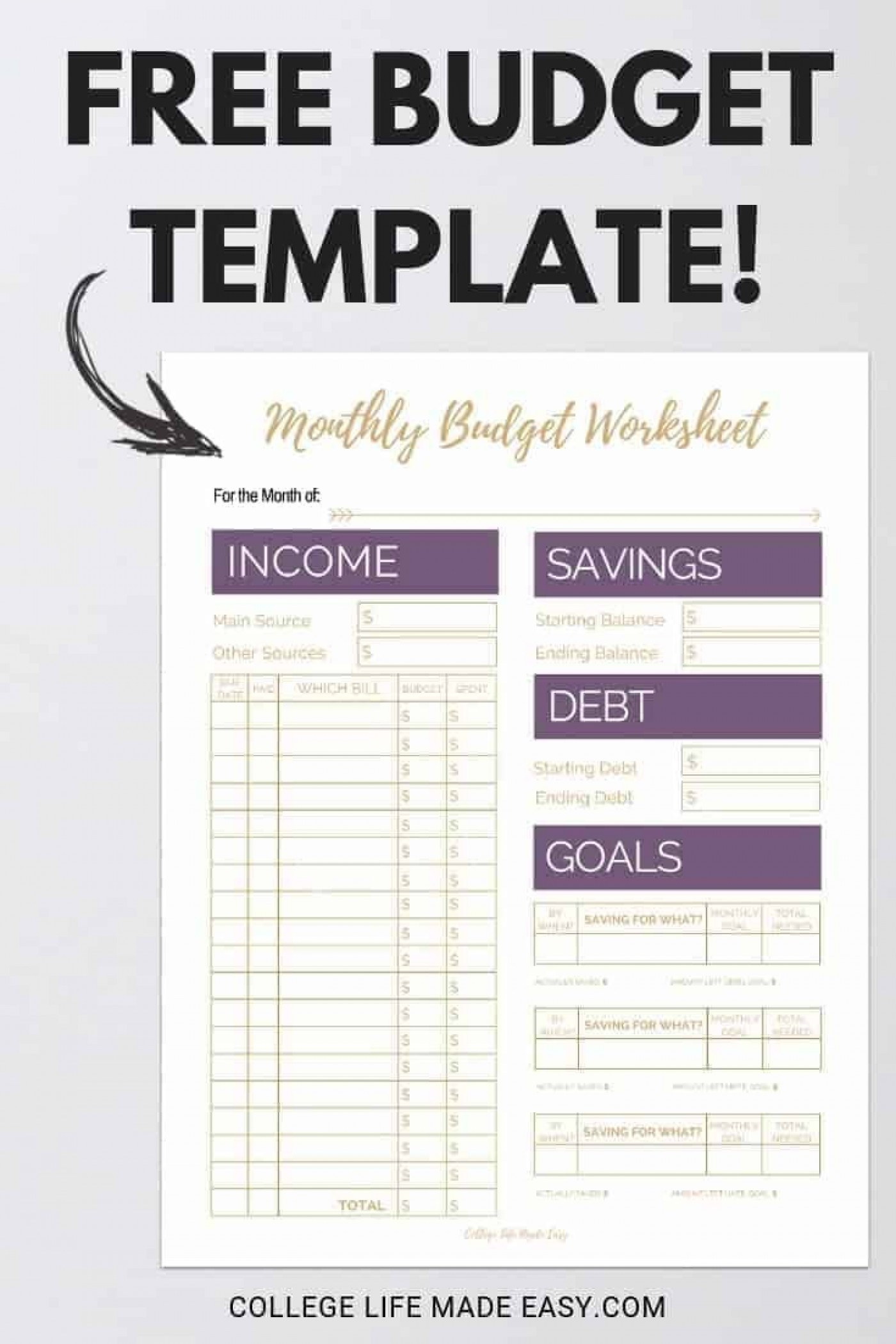 004 Archaicawful Free Printable Home Budget Template Photo  Form1400