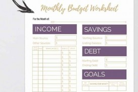 004 Archaicawful Free Printable Home Budget Template Photo  Form