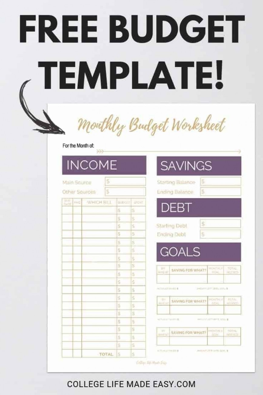 004 Archaicawful Free Printable Home Budget Template Photo  Form868