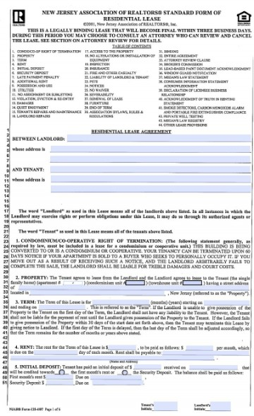 004 Archaicawful Generic Rental Lease Agreement Nj Design  Sample360