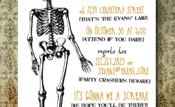 004 Archaicawful Halloween Party Invitation Template High Definition  Templates Scary Spooky