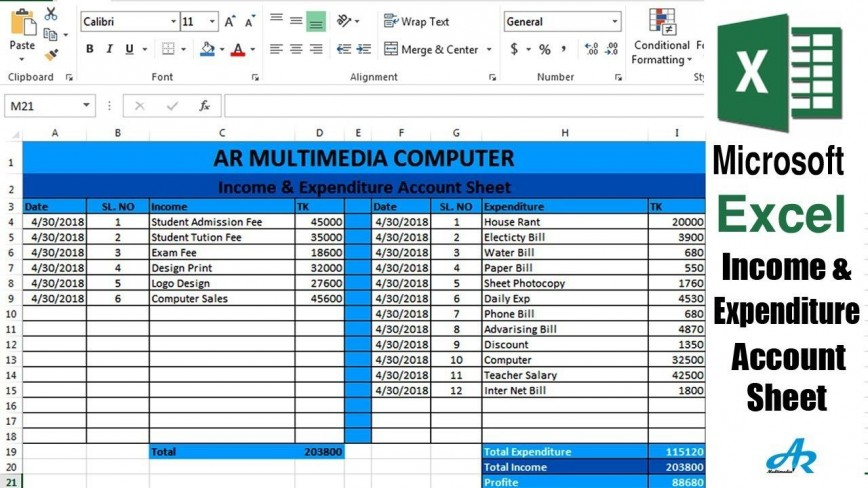 004 Archaicawful Income Statement Format Excel Free Download Concept  Monthly