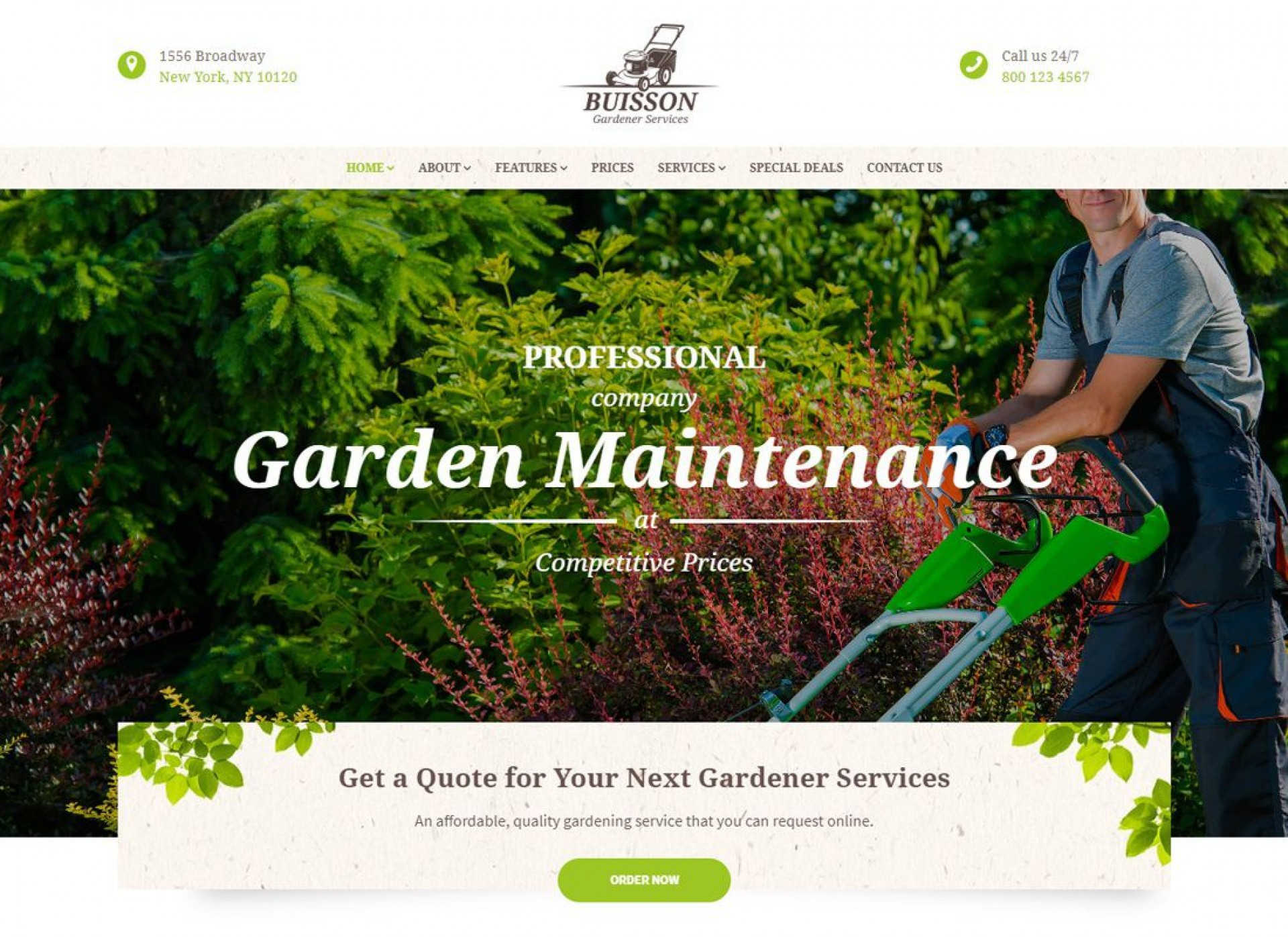 004 Archaicawful Lawn Care Website Template Picture 1920