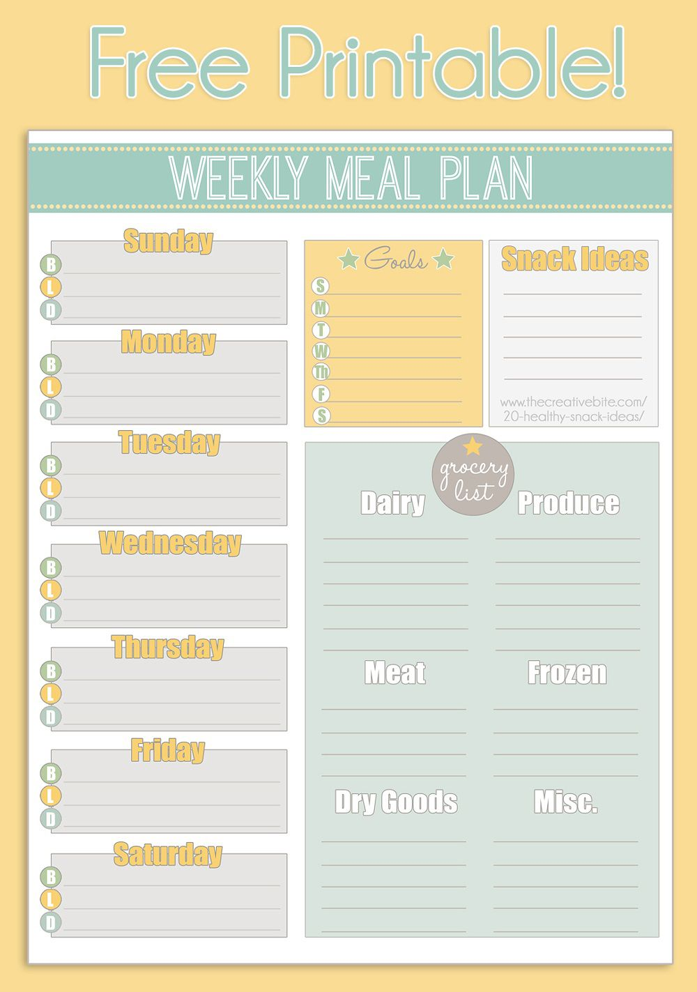 004 Archaicawful Meal Plan With Printable Grocery List Photo  Planning Template Excel FreeFull