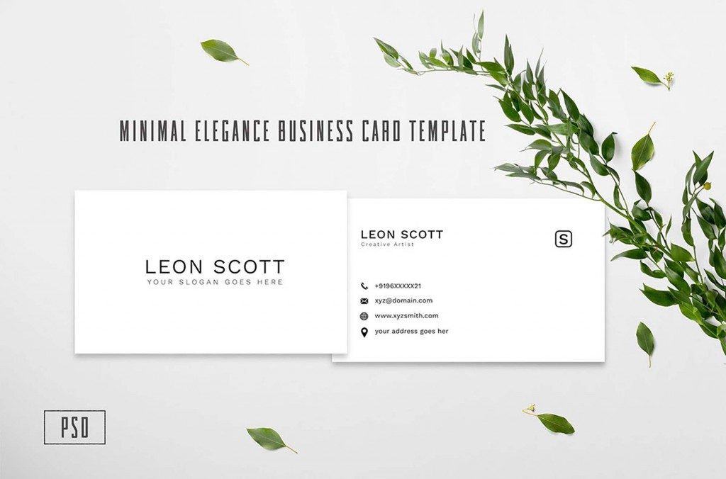 004 Archaicawful Minimalist Busines Card Template Psd Free Concept Large