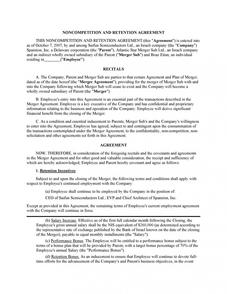 004 Archaicawful Non Compete Agreement Template California High Definition 868