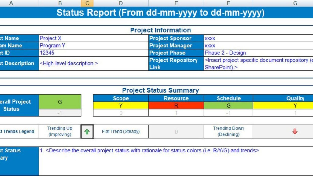 004 Archaicawful Project Statu Report Template Excel Idea  Free Progres Format XlLarge