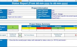 004 Archaicawful Project Statu Report Template Excel Idea  Free Progres Format Xl