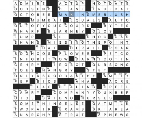 004 Archaicawful Rex Parker Doe Nytime Crossword Inspiration  The Nyt Puzzle 2020 Chore Galore Keep Change480