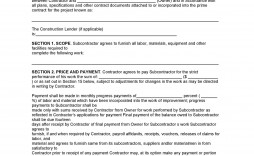 004 Archaicawful Subcontractor Agreement Template Free Picture  Construction Word