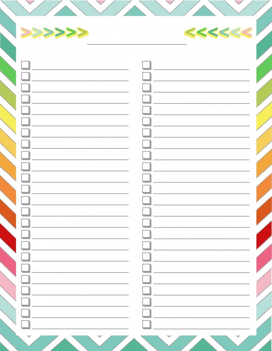 004 Archaicawful To Do Checklist Template Concept 868