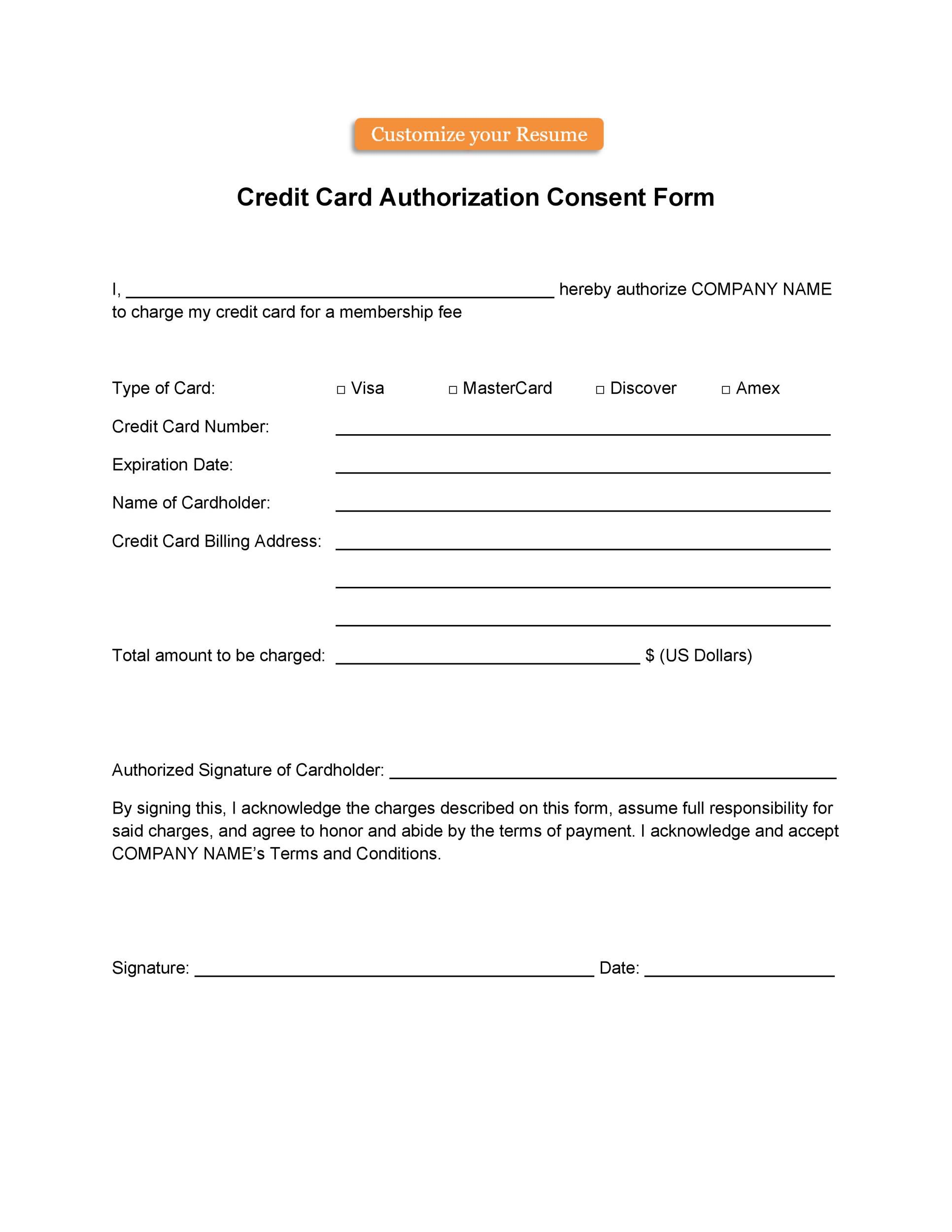 004 Astounding Automatic Credit Card Payment Authorization Form Template Highest Quality Full