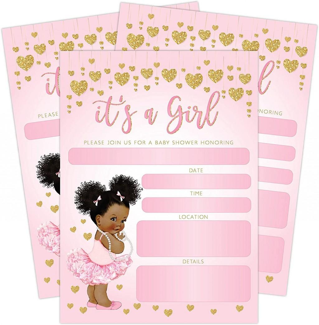 004 Astounding Baby Shower Invitation Girl Princes Design  Princess ThemeLarge