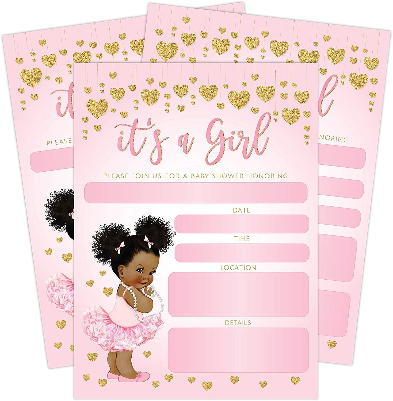 004 Astounding Baby Shower Invitation Girl Princes Design  Princess ThemeFull