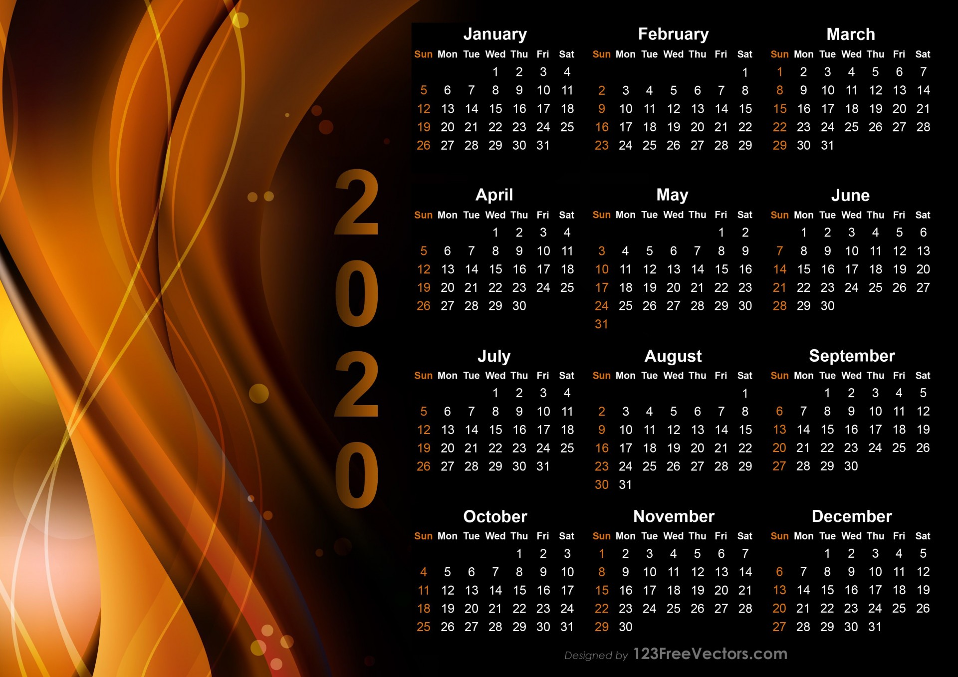 004 Astounding Calendar Template Free Download Picture  2020 Powerpoint Table Design 2019 Malaysia1920