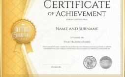004 Astounding Certificate Of Achievement Template Free Example  Award Download Word