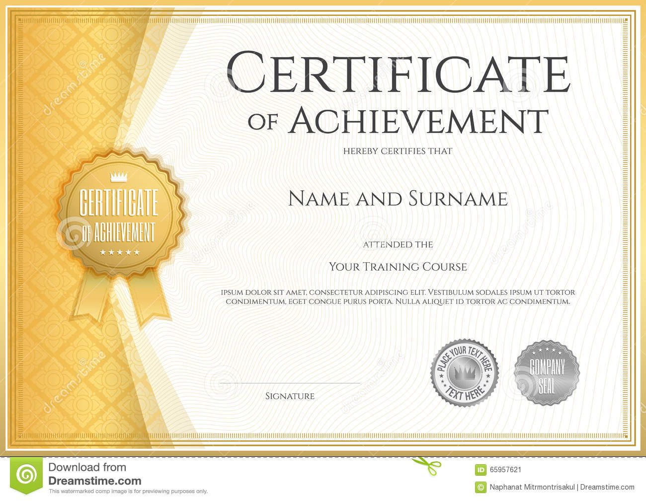 004 Astounding Certificate Of Achievement Template Free Example  Award Download WordFull