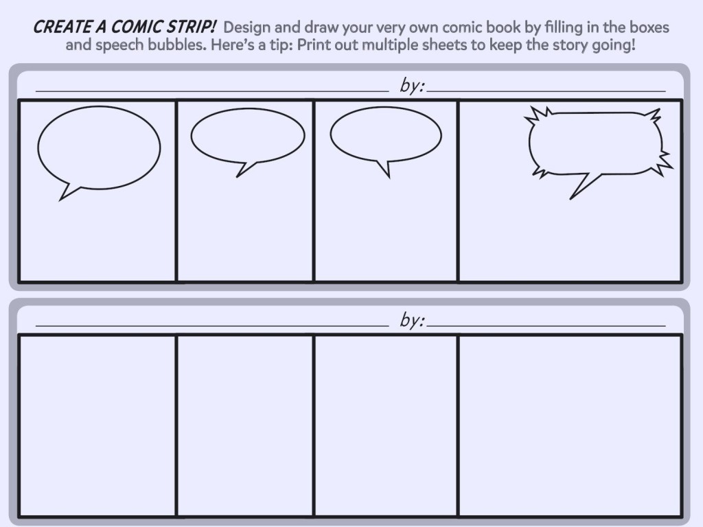 004 Astounding Comic Strip Template Word Doc Highest Quality Large