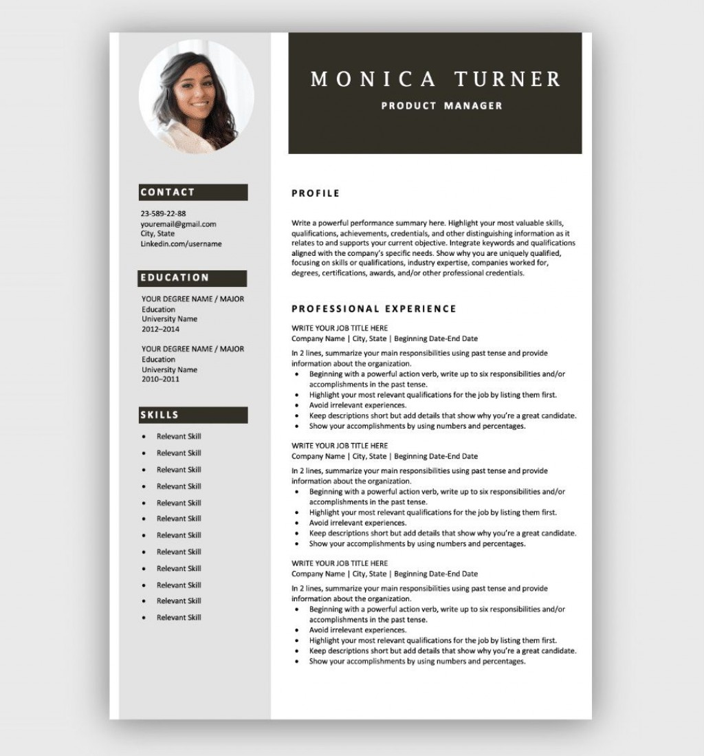 004 Astounding Easy Resume Template Free Highest Quality  Simple Download Online WordLarge