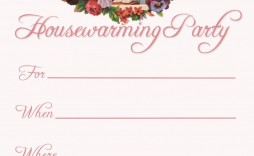004 Astounding Free Housewarming Invitation Template Photo  Templates Printable India Video Download