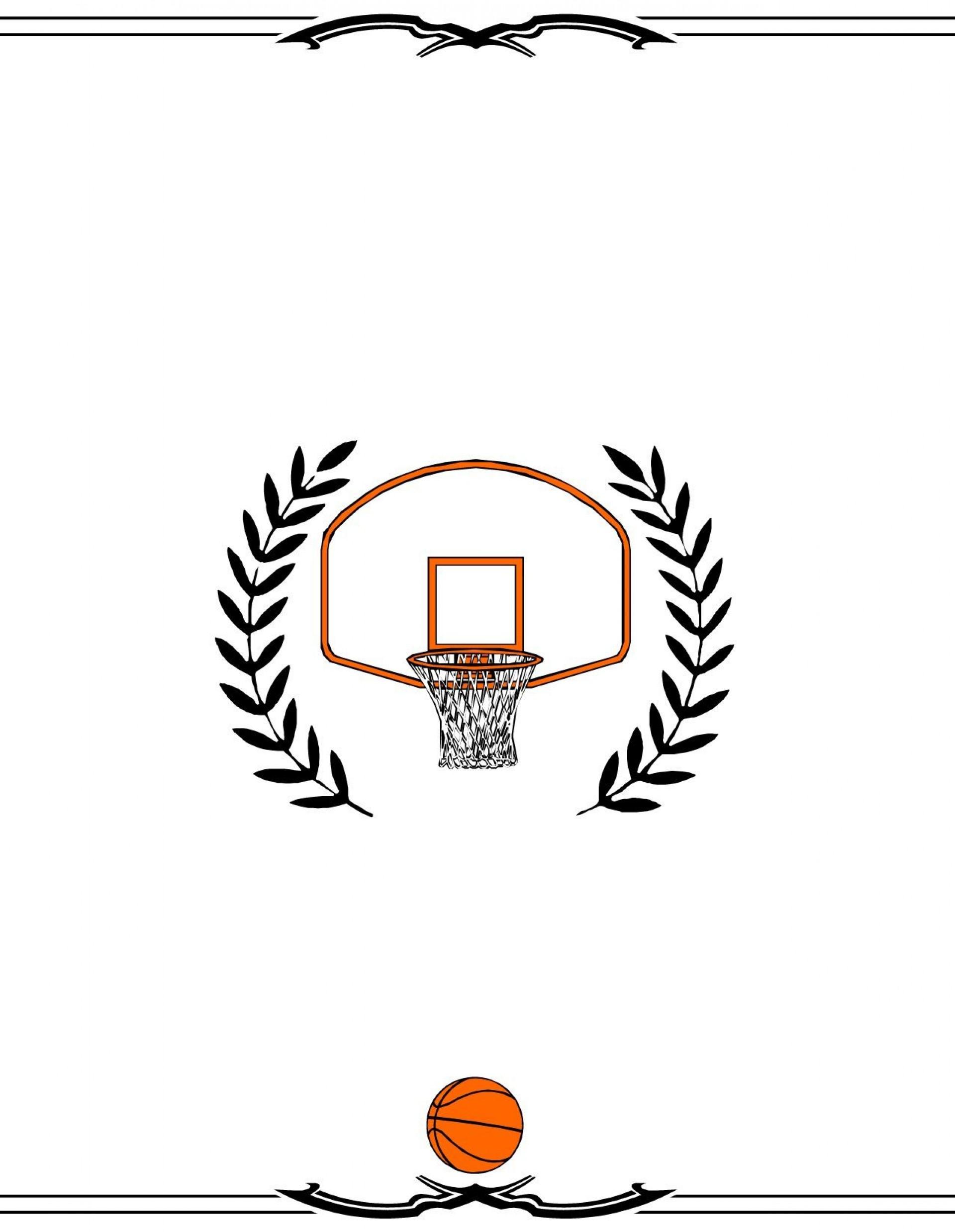 004 Astounding Free Printable Basketball Certificate Template Image  Templates1920