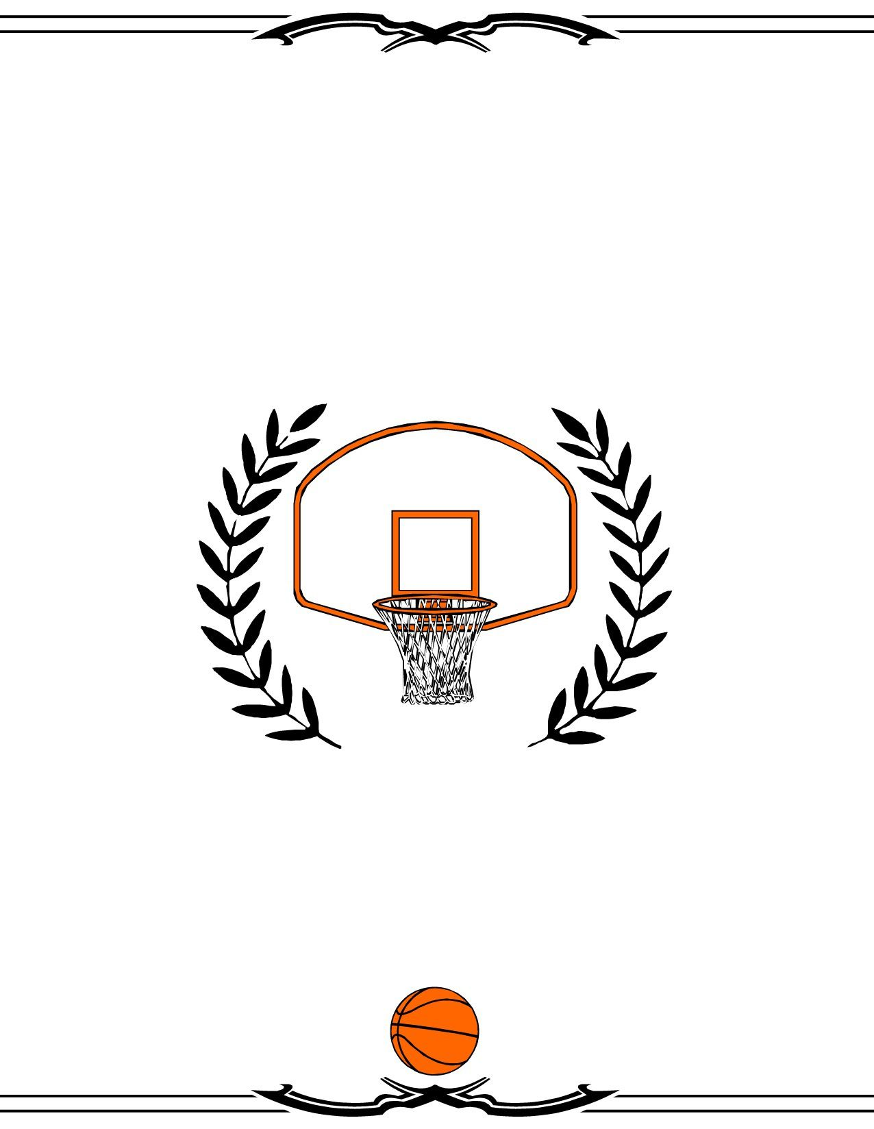 004 Astounding Free Printable Basketball Certificate Template Image  TemplatesFull
