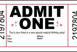 004 Astounding Free Printable Movie Ticket Birthday Party Invitation Inspiration