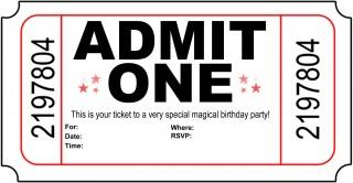004 Astounding Free Printable Movie Ticket Birthday Party Invitation Inspiration 320