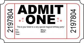 004 Astounding Free Printable Movie Ticket Birthday Party Invitation Inspiration 360