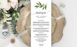 004 Astounding Free Printable Wedding Menu Card Template Picture  Templates
