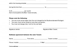004 Astounding Free Sublease Agreement Template Pdf Inspiration  Room Rental Car Form Residential Lease