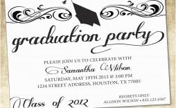 004 Astounding Graduation Party Invitation Template Design  Microsoft Word 4 Per Page