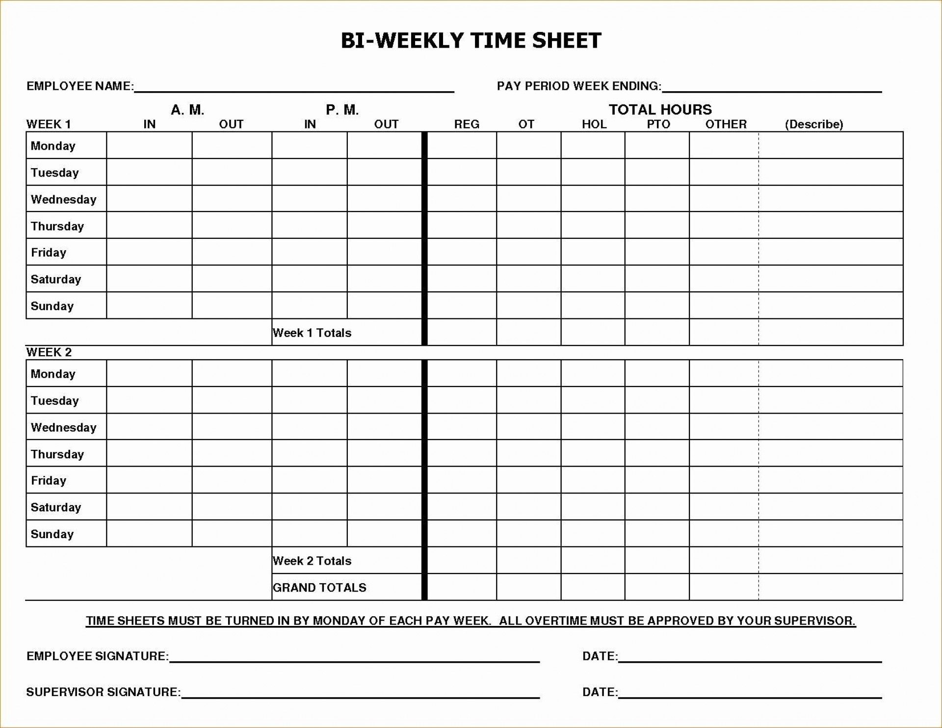 004 Astounding Multiple Employee Time Card Template Example 1920