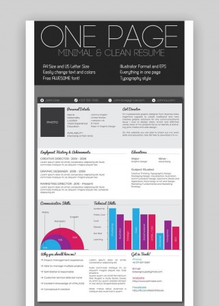 004 Astounding One Page Resume Template Sample  Word Free For Fresher Ppt Download Html320