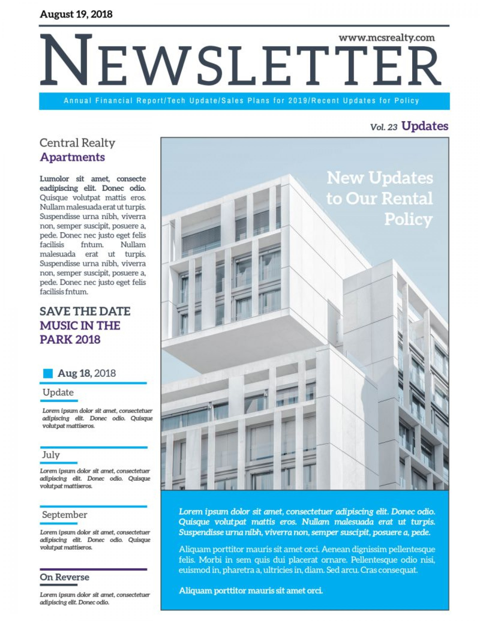 004 Astounding Real Estate Newsletter Template Design  Templates Free Printable Best1920
