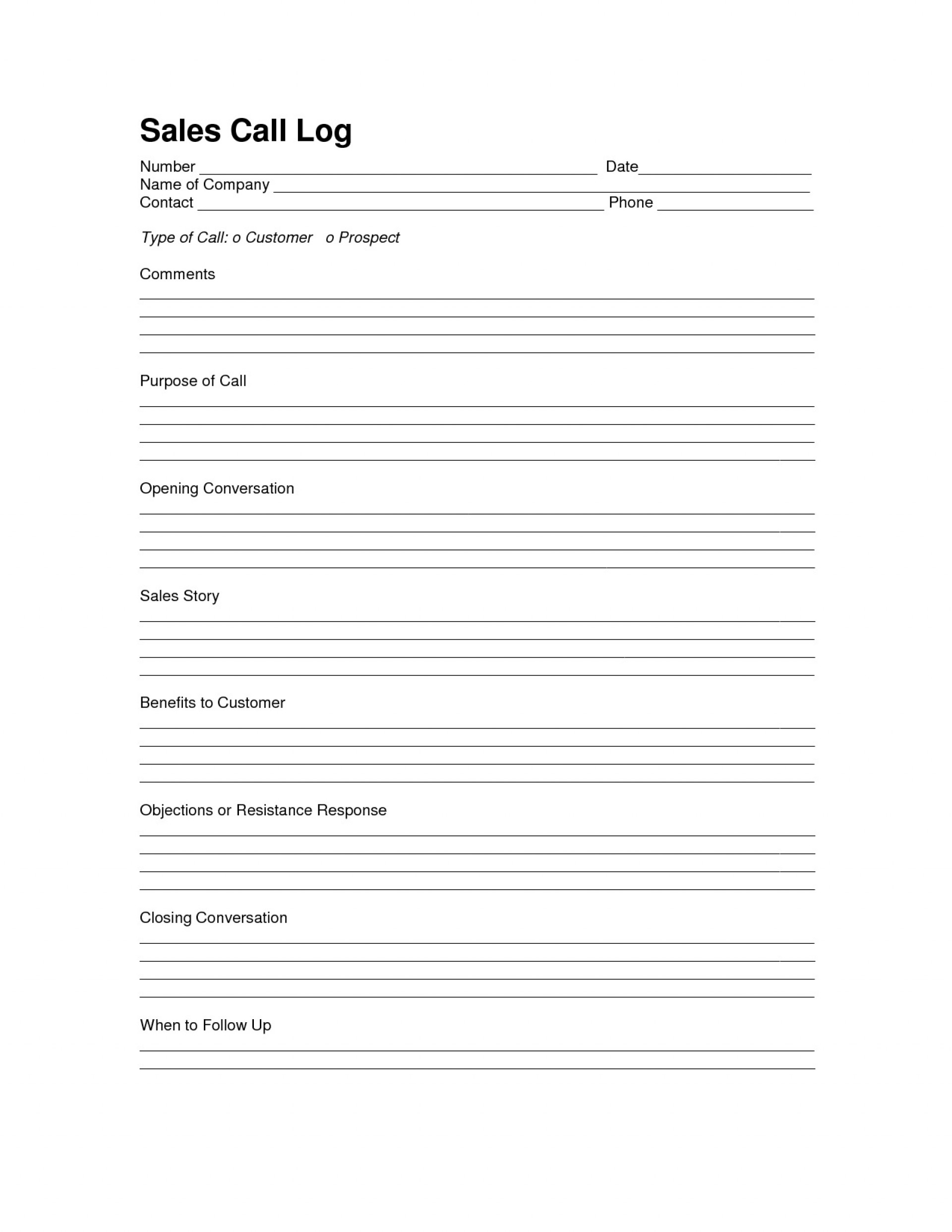 004 Astounding Sale Call Report Template Picture  Free Weekly Excel Pdf1920