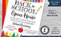 004 Astounding School Open House Flyer Template Concept  Free Microsoft High
