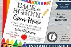 004 Astounding School Open House Flyer Template Concept  Elementary Free Word
