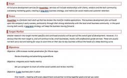 004 Astounding Simple Busines Plan Template Free Example  Word Document Download