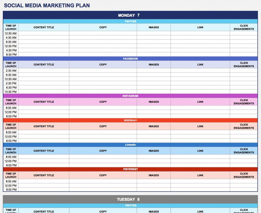 004 Astounding Social Media Strategy Template Pdf Idea  Sample ContentLarge