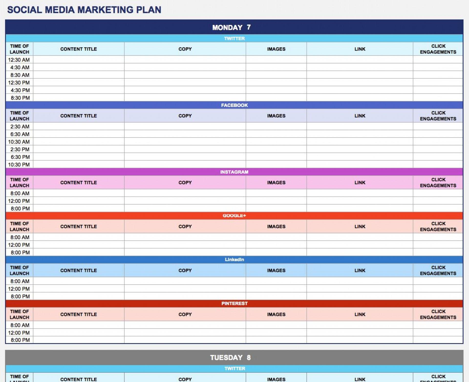 004 Astounding Social Media Strategy Template Pdf Idea  Sample Content1920