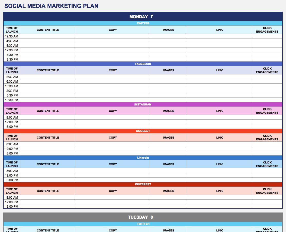 004 Astounding Social Media Strategy Template Pdf Idea  Sample ContentFull