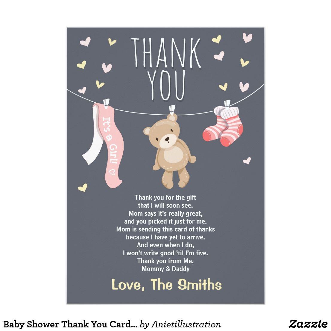 004 Astounding Thank You Card Wording Baby Shower Gift High Resolution  For Multiple GroupFull