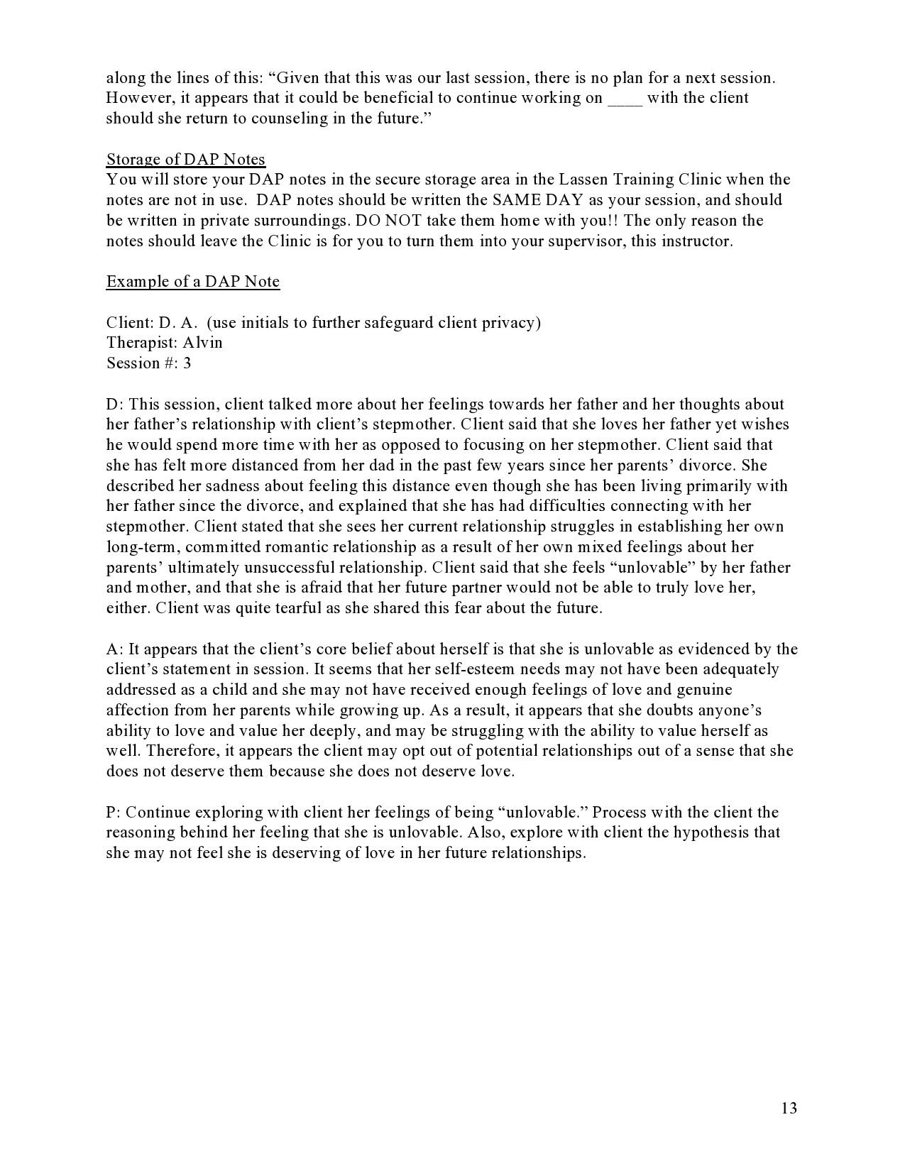 004 Astounding Therapist Progres Note Example Idea  Counseling Template Psychotherapy Sample PsychologicalFull