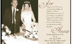 004 Awesome 50th Wedding Anniversary Invitation Template Microsoft Word Image  Free