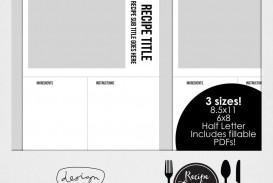 004 Awesome Create Your Own Cookbook Template Idea  Free