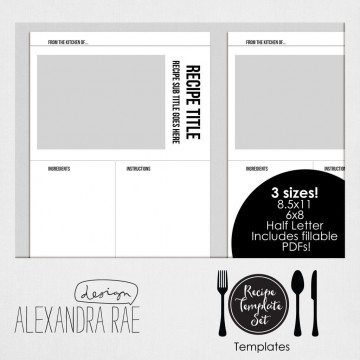004 Awesome Create Your Own Cookbook Template Idea  Free360