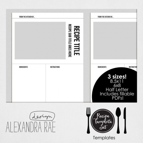 004 Awesome Create Your Own Cookbook Template Idea  Free480