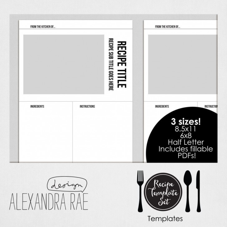 004 Awesome Create Your Own Cookbook Template Idea  Free728